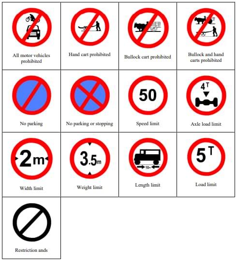 Mandatory Road Traffic Rules sign